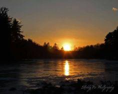 Sunset over a pond near the Ashokan Reservoir