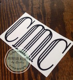 Male/Guy/Masculine/Man Monogram Vinyl Decal - pinned by pin4etsy.com