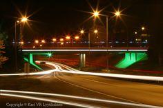 Jyväskylä,  4-tie, Rantaväylä, Silta, Yö, Valo Bridge, Fair Grounds, Photography, Travel, Photograph, Viajes, Fotografie, Bridges, Fotografia