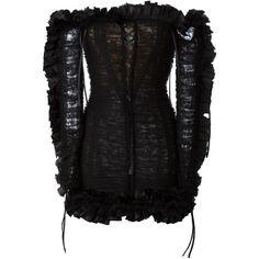 Roberto Cavalli Off Shoulder Short Dress (3,285 CAD) ❤ liked on Polyvore featuring dresses, black, short dresses, roberto cavalli, off the shoulder mini dress, off the shoulder dress and roberto cavalli dresses