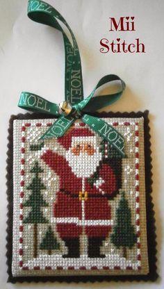 finishing prairie schooler santa cross stitch - Google Search