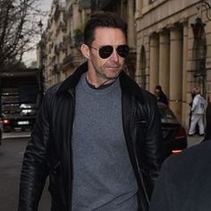 Hugh Jackman and wife Deborra-lee Furness spotted out in Paris