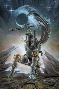 The Geeky Nerfherder: Cool Art: 'Star Wars: Boba Fett' by Adi Granov