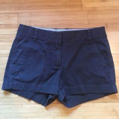 J Crew Broken In Chino Shorts Adorable navy broken in chino shorts from J Crew. From retail store. J. Crew Shorts