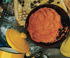 ⭐️ Roasted Red Pepper and Walnut dip - Muhammara, a Turkish and Syrian red pepper spread thickened with bread crumbs and walnuts.  No bread crumbs needed if you add more nuts.
