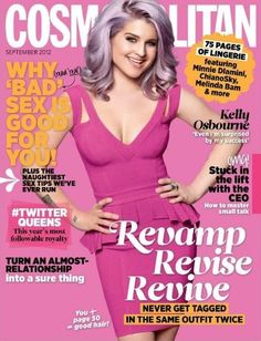 interesting design I like the way that this puts the letters behind the picture. Cosmopolitan Magazine, Instyle Magazine, Cool Magazine, Magazine Covers, Magazine Rack, Blond, Kelly Osbourne, Real Model, Successful Women