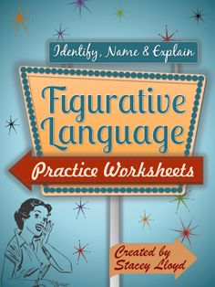 Ok, so your students know the names of different figurative language techniques by the time they get to Middle/High School. But can they identify them in use and then explain what they mean and why they are effective? These worksheets will help them with this process.