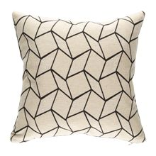 Geometric and Charcoal Gray Tweed Pillow from Rejuvenation