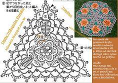 """Teppich """"Triangles Flower"""" aus T-Shirt Garn... viele tolle Ideen aus Shirtgarn auf der Seite ;O)"""