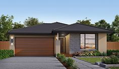 Our Dou Sundance Facade. Visit our website for more information on our range of options for your new home. Taylor Morrison, House Design Pictures, Facade Design, Facades, Custom Homes, Building A House, Garage Doors, New Homes, Houses