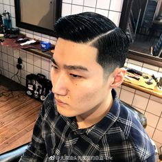 Asian Man Haircut, Haircuts For Men, Asian Men, Hair Cuts, Hair Beauty, Men's Hairstyle, Hairstyles, Greaser, Chinese