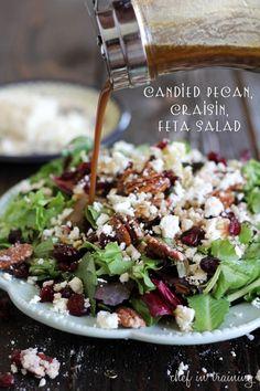 candied pecans cranberry feta salad recipe :: fineCraftGuild.com