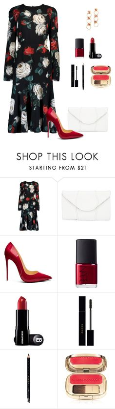 """""""Untitled #769"""" by ladyasdis ❤ liked on Polyvore featuring Dolce&Gabbana, Khirma Eliazov, Christian Louboutin, NARS Cosmetics, Gucci and Avon"""