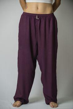 Solid Color Drawstring Women's Yoga Massage Pants in Dark Purple – Harem Pants