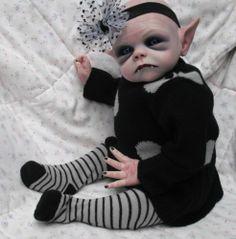 horror goth art doll ~ Vampire baby ~ No thanks. I like my vampires sexy and sparkly.