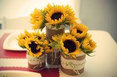 pink-strawberry-baby-shower-sunflower-centerpieces.jpg 500×333 pixels