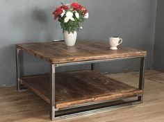 Lovingly made within our workshop here in the UK these coffee tables are made from reclaimed wood and Industrial steel The legs are made from industrial grade box steel, which are welded and left unpainted. To give prevent rust, and bring out the natural colour the legs are sealed.