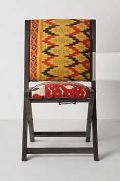 Ikat Accessories by Jeanine Hays on @HGTV. @Anthropologie  chair.