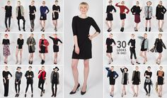 Plus Size Minimalist Capsule Wardrobe Prom Dress Shopping, Online Dress Shopping, Minimalist Wardrobe, Minimalist Fashion, Minimalist Style, Black Dress Outfits, Dress Black, Little Black Dress Outfit, Mom Outfits