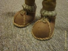 Кукольная жизнь Мастер-класс Шитьё Ботинки для кукол  Нитки Ткань Фетр фото 1