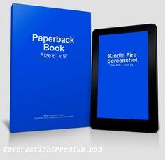 Kindle Fire eBook Reader Mockup Free Download