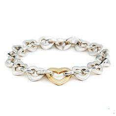 Tiffany & Co Outlet Heart Link Bracelet