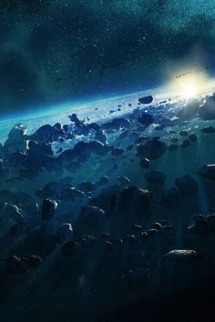 Asteroids A heavily populated Asteroid Field. Could be an alternative idea for a backdrop. Galaxy Planets, Space Planets, Asteroid Belt, Alien Planet, Space Backgrounds, Environment Concept Art, To Infinity And Beyond, Star Wars Art, Science And Nature