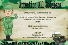 Boys Camo Tank Military Army Top Secret by CozyRedHouseCreation