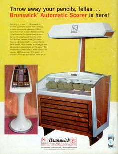 Brunswick Automatic Scoring Machine 1968