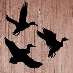"""New Lawn Yard Shadow Silhouette """"Flying Ducks"""" Set 