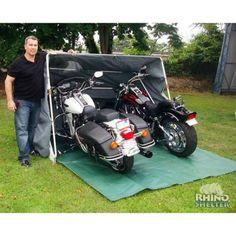 Rhino Double Cycle Cabana 7u00276 W x 10u00276 L x 5u00278 H Gray Top/White Frame #StorageShedsOutlet  sc 1 st  Pinterest & motorcycle storage tents   Rhino Shelter Motorcycle Storage Bag ...