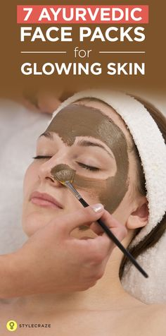 When it comes to skin care,ften pay more emphasis to our face in comparison to other regions. Ayurveda is the most useful and successful means for achieving this purpose. Here are a few amazing ways to make a face pack for glowing skin at home. Ayurveda, Homemade Face Pack, Homemade Skin Care, Homemade Masks, Beauty Care, Beauty Skin, Beauty Hacks, Diy Beauty, Beauty Women