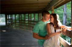 Fayetteville Cape Fear River Trail Picnic Engagement Pictures Covered Bridge