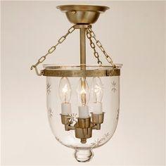 Mini Smokebell Semi-Flush Ceiling Lantern (3 finishes!) - Shades of Light