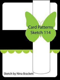 Card Patterns sketch No. 114. #cards #card_making #sketches #crafts
