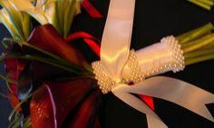 Red calla bouquet