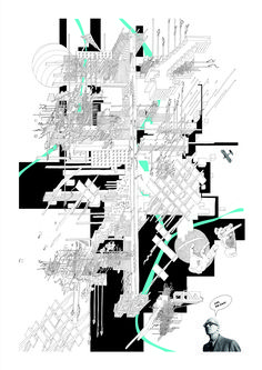 Cybertopia: The Digital Future of Analog Architectural Space,9. Disappearing in the cybernature. Spirits of the metropolis. Zmey Gorynych, Ilya Muromets and Koschei Immortal. Image © Egor Orlov