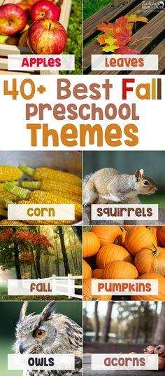 Best Fall Preschool Themes and Preschool Activities, Preschool Themes, Preschool lesson plans, Preschool Themes Weekly, Preschool crafts, Preschool ideas