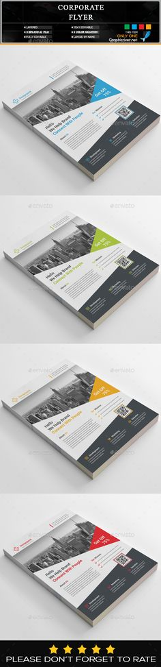 #Corporate #Flyer #Template - #Business #Flyers #Design. Download here: https://graphicriver.net/item/corporate-flyer/19836071?ref=yinkira