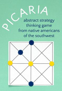 Make your kids smarter with a fun thinking game that is a great substitute for tic-tac-toe. Family Reunion Games, Family Games, Family Reunions, Printable Board Games, Fun Board Games, Math For Kids, Games For Kids, Native American Games, Thinking Strategies