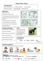 Trinity GESE Grade 2 Video Worksheet