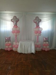1000 images about christening on pinterest communion for Balloon decoration ideas for christening