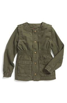 Tea Collection 'Adventure' Smock Detail Jacket (Toddler Girls, Little Girls & Big Girls) available at #Nordstrom