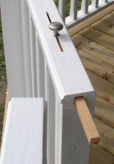 Una buona idea per il blocco del cancello, sopratutto in caso di bimbi piccoli.  idee raccolte anche nella bacheca 2B3 di FaceBook