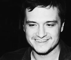 Josh Hutcherson - black and white