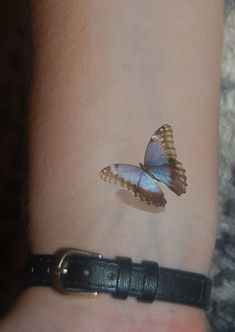 Blue Morpho Butterfly Butterfly tattoo by WickedlyLovelyArt Blue Morpho Butterfly Butterfly tattoo by WickedlyLovelyArt This image has get. 3d Tattoos, Large Tattoos, Girly Tattoos, Mini Tattoos, Trendy Tattoos, Cute Tattoos, Beautiful Tattoos, Flower Tattoos, Body Art Tattoos