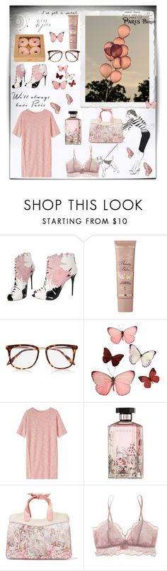 """""""Dusky Pink Vibes"""" by alongcametwiggy ❤ liked on Polyvore featuring Alexander McQueen, Victoria Beckham, H&M, Toast, STELLA McCARTNEY, RED Valentino and Eberjey"""