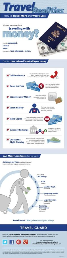 How to #travel safely with money.   Via @Andrea / FICTILIS Thorp Taylor Guard