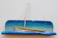 sailboat,driftwood,night,starry night www.ultramarin-art.hr
