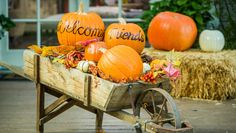 Fall Welcome Wagon - make use of your leftover pumpkins and create @kennethwingard's Fall Harvest Welcome Wagon! Tune in to Home and Family weekdays at 10/9c on Hallmark Channel!